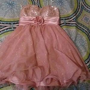Prom Dress Rose Gold Color
